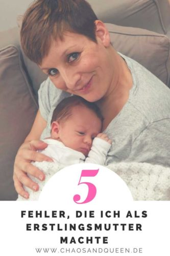 5 Fehler als Erstlingsmutter