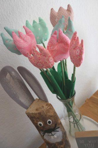 Blumenstrauß aus Stoffresten
