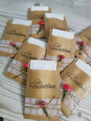 DIY Freudentränen Hochzeit