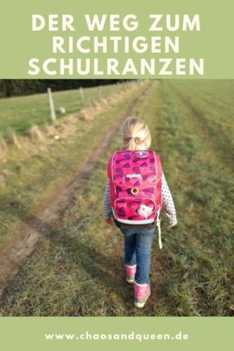 Der Weg zum richtigen Schulranzen