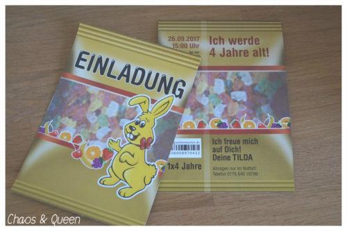 Einladung Kindergeburtstag Gummibärchentüte
