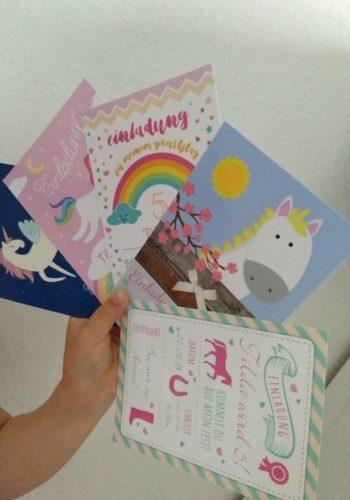 Kindergeburtstag Einladungen Mädchen