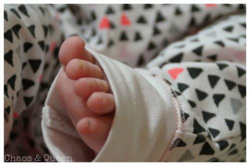 Babyfüsse Siebzehn Wochen