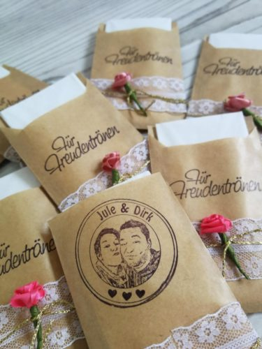 Freudentränen Hochzeit DIY