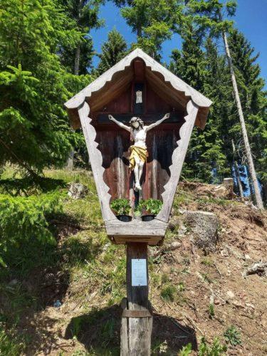 Heiligenbildchen Wanderung Putzer Kreuz