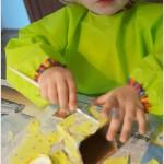 Basteln mit Kleinkind – Décopatch